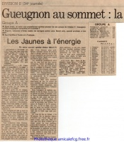 26 mai 1979  - Match pour le titre contre AJ AUXERRE