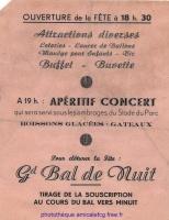1949 - Programme Fête du Football verso