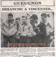1959 - Coupe Gambardella - Match au RC Paris