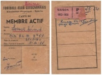1953-54 - Carte de membre actif : Lossot Gérard